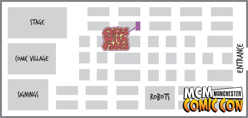 Floor plan - MCM Manchester Comic Con July 2014