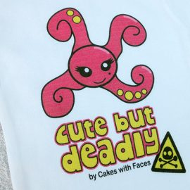Cute pink monster baby vest