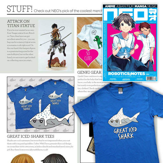 Great Iced Shark T-Shirt in NEO Magazine