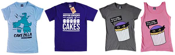 Cake t-shirts for National Cupcake Week