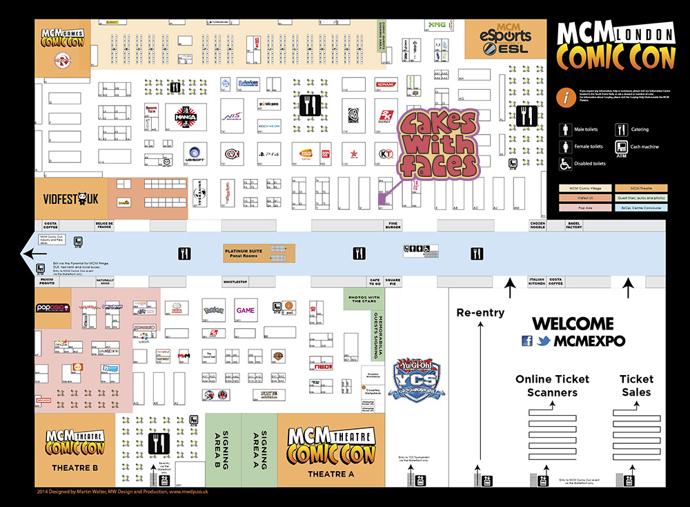 MCM Expo London Comic Con Oct 2014 floor plan