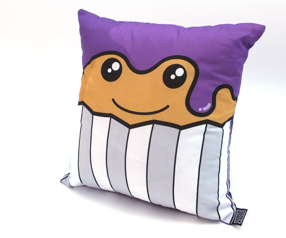 Cute purple cake cushion
