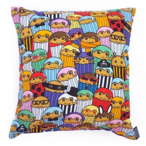 Colourful cakes cushion