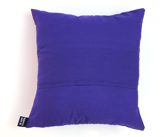 Colourful cushion - purple back
