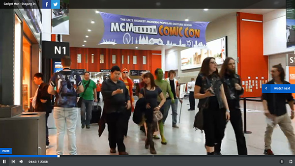MCM London Comic Con on Gadget Man on Channel 4