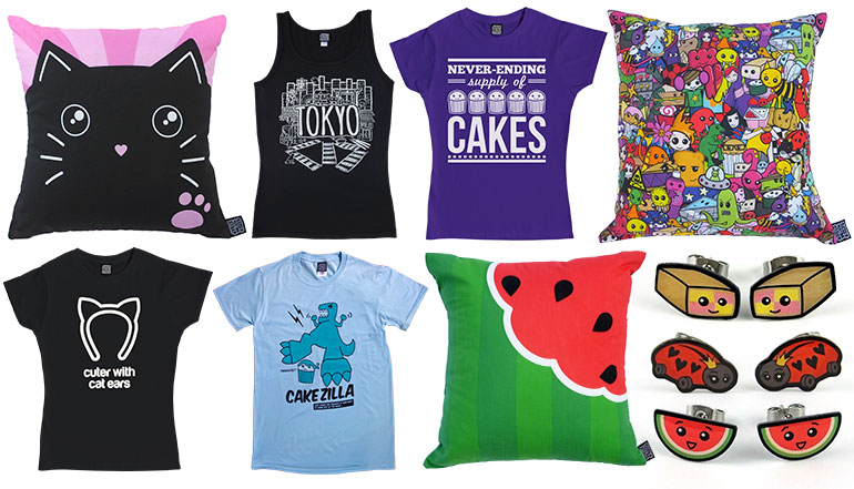Cakes with Faces t-shirts and accessories