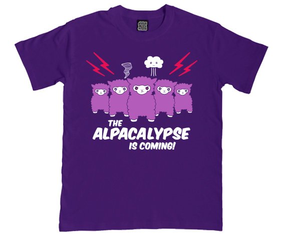 alpacalypse t shirt funny alpaca gifts clothing. Black Bedroom Furniture Sets. Home Design Ideas