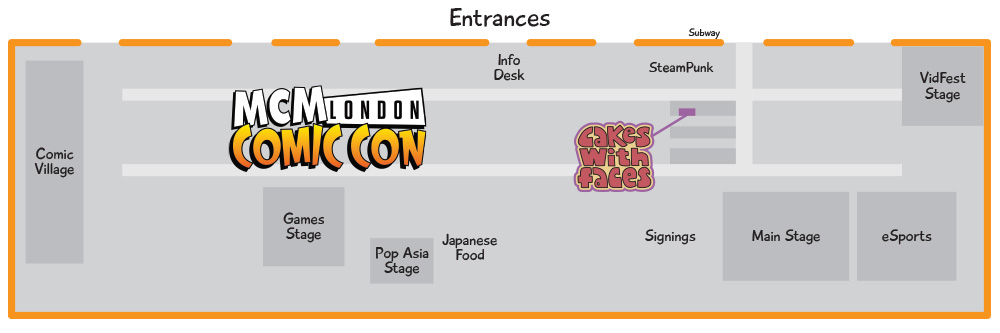 MCM London Comic Con May 2015 Floor Plan