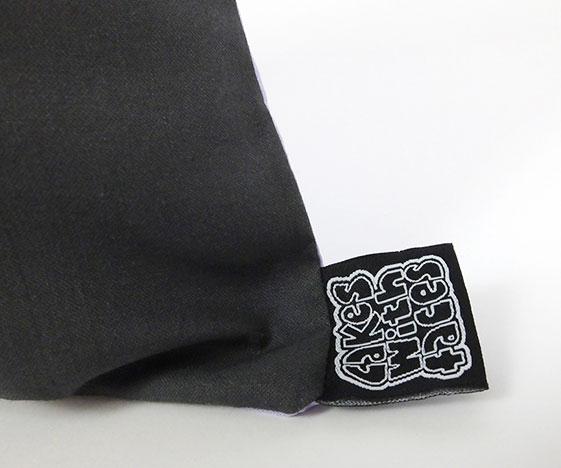 Kawaii bunny pillow label