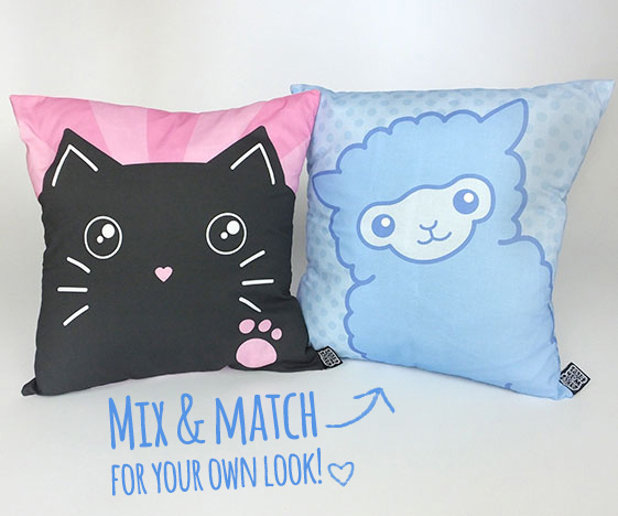 Mix and match cute pillows