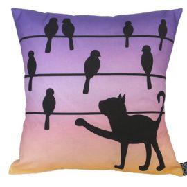 Sunset cat cushion