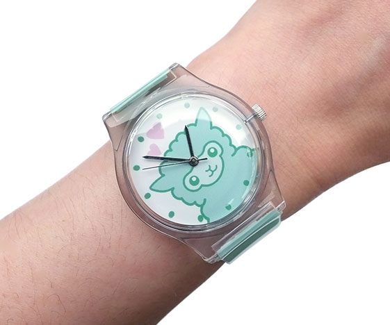 Pastel mint green alpaca watch