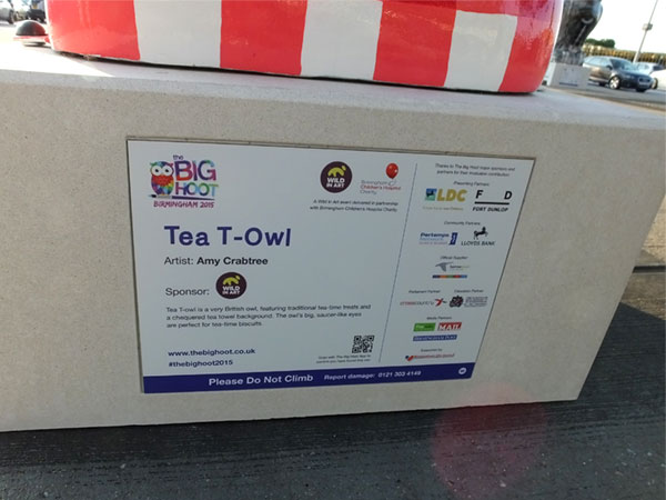 Tea T-Owl plaque