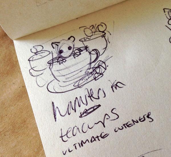 Cute hamster sketch