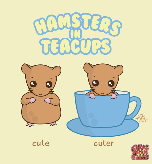 Hamsters in teacups