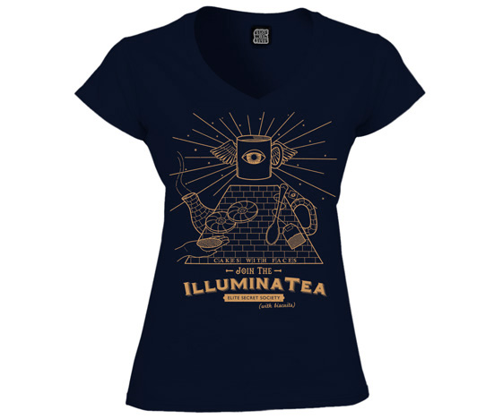 Illuminatea ladies illuminati t-shirt