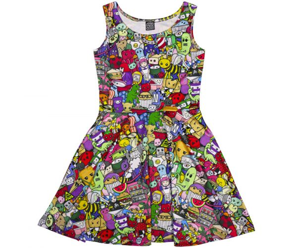 Cute Explosion Skater Dress for Women
