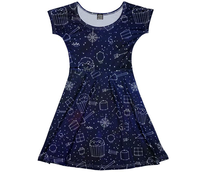 Starry Night Galaxy Dress