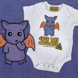 Purple monster baby vest