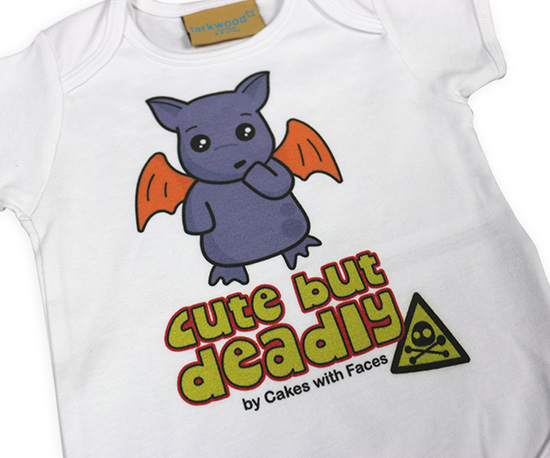 Unisex purple monster baby vest