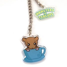 Hamsters in Teacups Charm