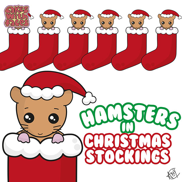 Hamsters in Christmas Stockings