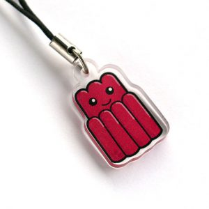 Cute jelly phone charm
