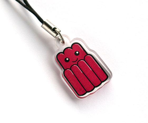 Cute jelly phone charm
