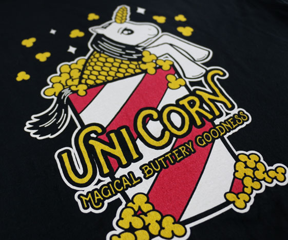 UniCorn t-shirt close-up