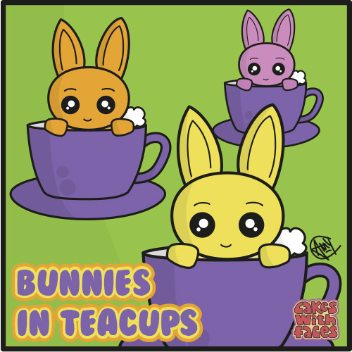 Bunnies in Teacups
