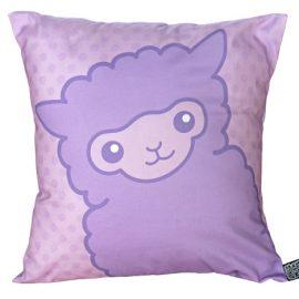 Lilac alpaca cushion