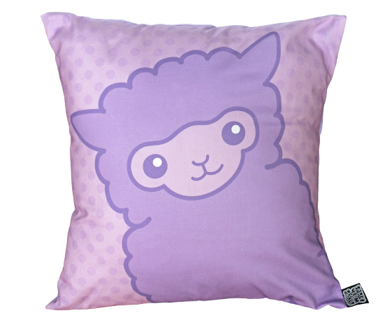 Lilac alpaca cushion