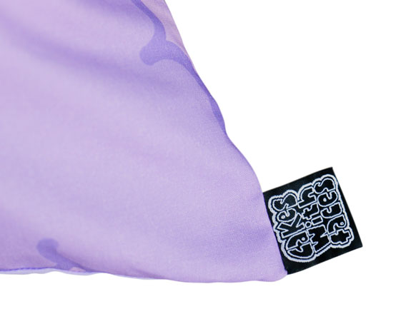 Pastel purple alpaca cushion