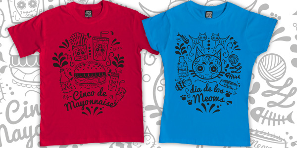 Cinco de Mayo Sugar Skull T-Shirts