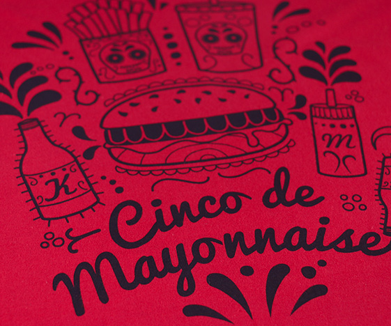 Cinco de Mayo t-shirt detail