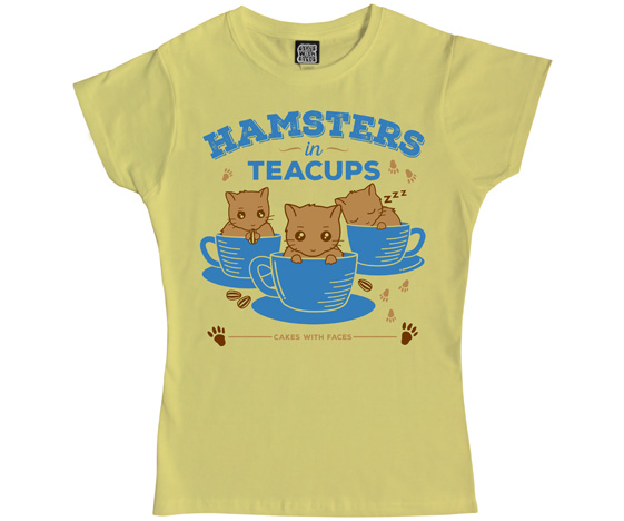 Hamsters in Teacups Ladies T-Shirt