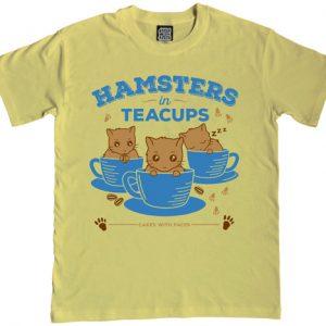 Hamsters in Teacups Mens T-Shirt