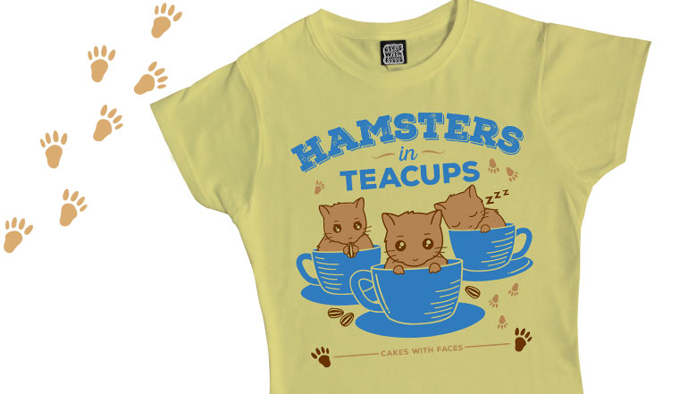 Hamsters in Teacups T-Shirt