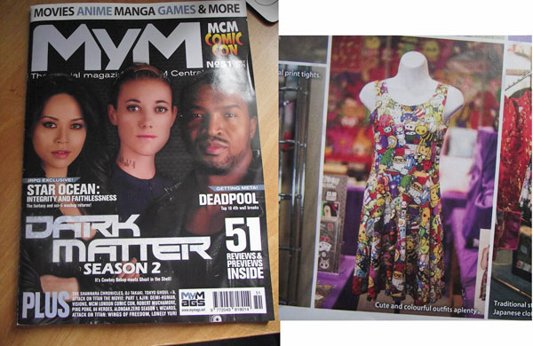Colourful skater dress in MyM Magazine