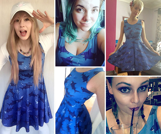 Shark dress customer photos