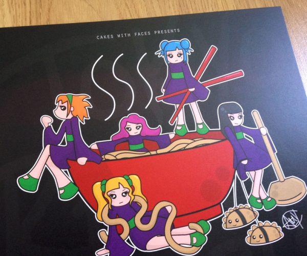 Cute Tokyo Ramen Girls Tour Poster