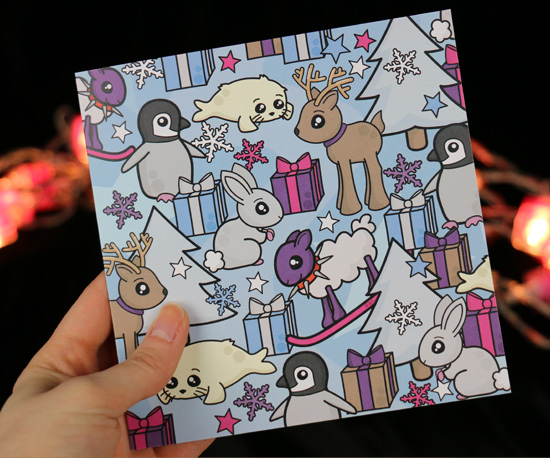 Cute, snowy Christmas Card