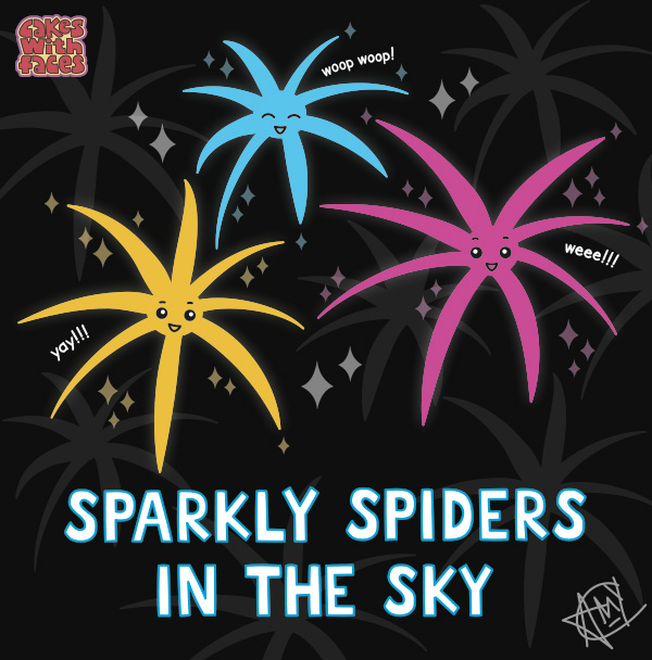 Fireworks: Sparkly disco spiders