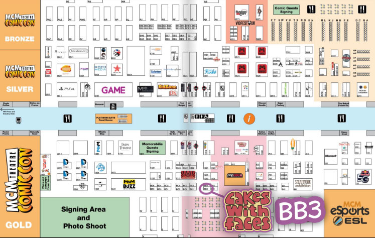 MCM London Comic Con May 2017 Floor Plan