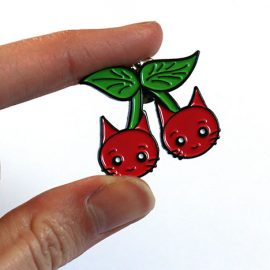 Cherry Cats Pin