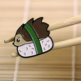 Hedgehog Sushi Enamel Pin Badge