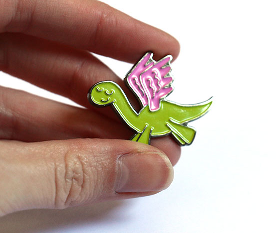 Kawaii Pegasus / Pegasaurus Enamel Pin Badge