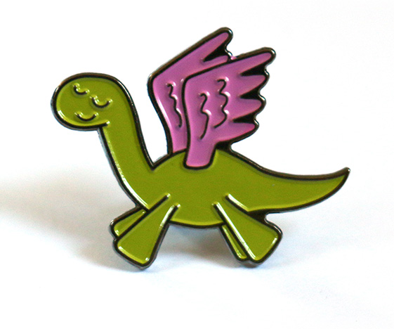 Cute Pegasaurus Pin