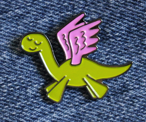 Pegasaurus Enamel Pin Badge