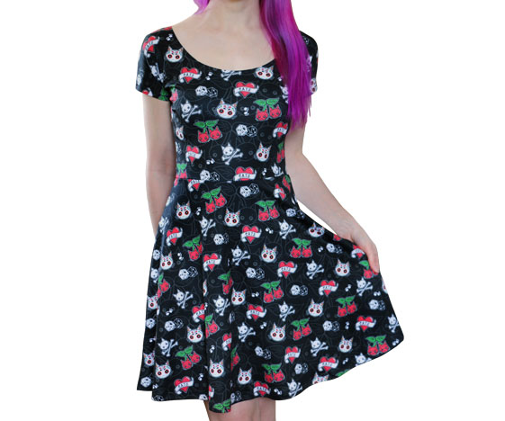 Cattoos Cat Skater Dress